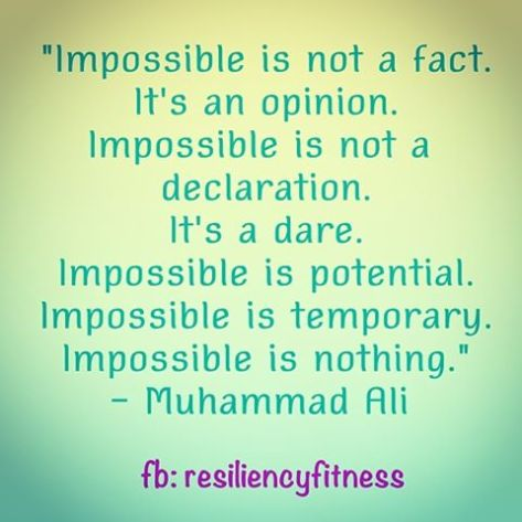 Impossible is nothing.....